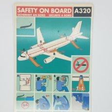 Carteles de Transportes: AIRBUS A320 SWISSAIR INSTRUCCIONES SEGURIDAD. Lote 232006045