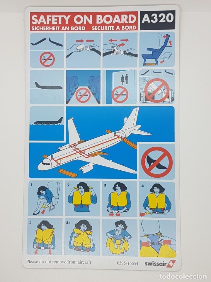 Carteles de Transportes: Airbus A320 Swissair Instrucciones seguridad - Foto 2 - 232006045