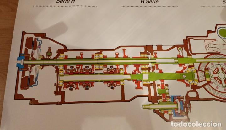 Carteles de Transportes: CARTEL EMBRAGUE Y TRANSMISIÓN SERIE H TRACTORES EBRO KUBOTA - Foto 3 - 234412680