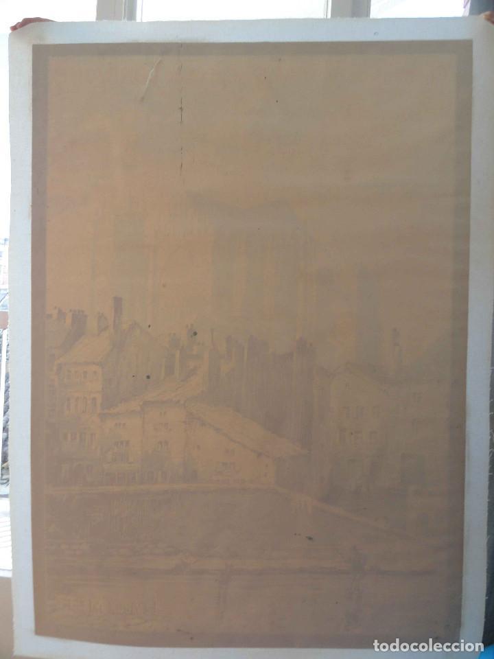 Carteles de Transportes: Antiguo Cartel LE VIEUX METZ - CHEMINS DE FER DALSACE ET DE LORRAINE - F. MARKS - Litografia. - Foto 11 - 234758848
