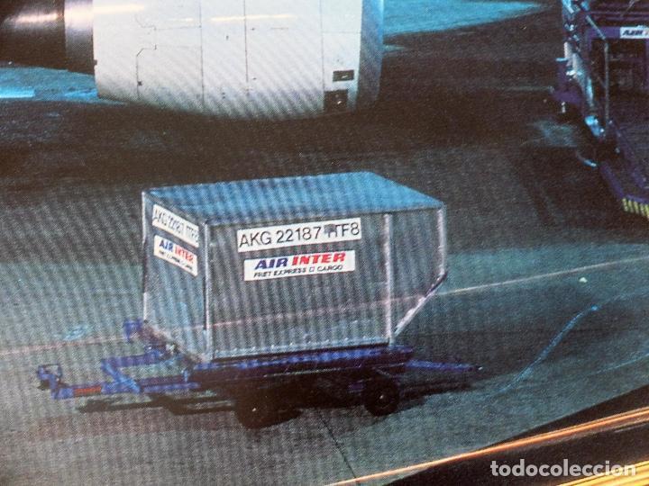 Carteles de Transportes: GRAN POSTER AEROLÍNEA FRANCESA AIR INTER. AEROPUERTO DE NOCHE. AFFICHE - AVIACIÓN - Foto 5 - 237084350