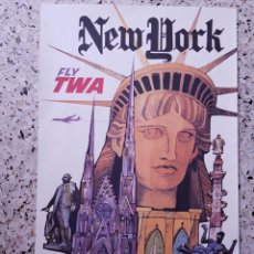 Carteles de Transportes: POSTER TWA DAVID KLEIN NEW YORK. Lote 243358635