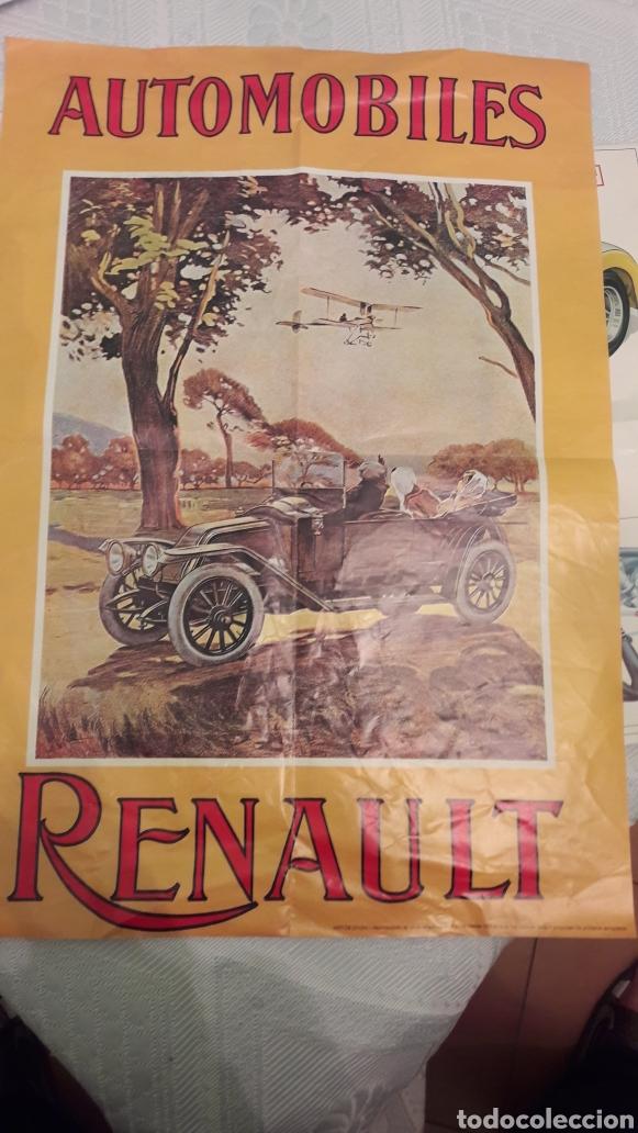 RENAULT 1907- REPRODUCCIÓN CARTEL (Coleccionismo - Carteles Gran Formato - Carteles Transportes)