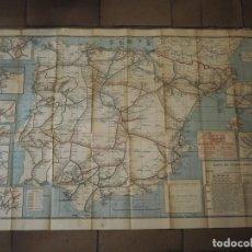 Carteles de Transportes: CARTEL MAPA DE FERROCARRILES MARIANO DE CORRAL E HIJOS BILBAO. JUAN GIRALT MIRÓ BARCELONA. 1923. Lote 259307775