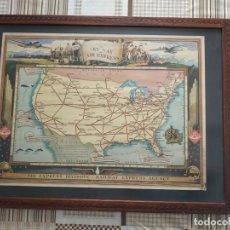 Carteles de Transportes: CARTEL POSTER SHIP THE SKY WAY VIA AIR EXPRESS. USA. Lote 266071428