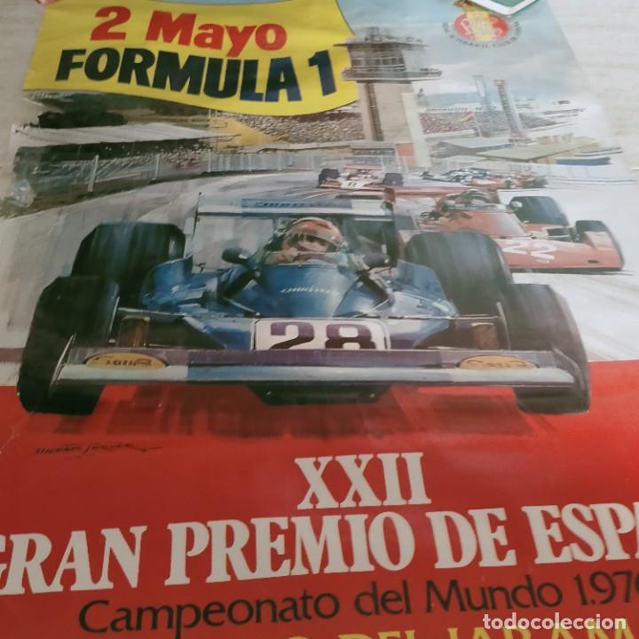 XXII GRAN PREMIO DE ESPAÑA 1976 CARTEL ORIGINAL CIRCUITO DEL JARAMA 2 MAYO FORMULA 1 (Coleccionismo - Carteles Gran Formato - Carteles Transportes)