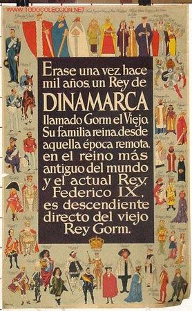 ANTIGUO CARTEL DE TURISMO DE DINAMARCA AÑOS 60 (Coleccionismo - Carteles Gran Formato - Carteles Turismo)