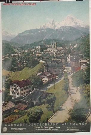 ANTIGUO CARTEL ORIGINAL DEL MINISTERIO DE TURISMO DE ALEMANIA AÑOS 50 (Coleccionismo - Carteles Gran Formato - Carteles Turismo)