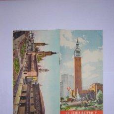 Carteles de Turismo: ZARAGOZA XV FERIA NACIONAL DE MUESTRAS DEL AÑO 1.955. Lote 25070350