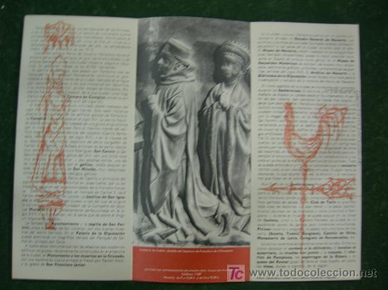 Carteles de Turismo: folletos navarra, pamplona, hotel yoldy (pamplona), editados por ministerio informacion y turismo - Foto 5 - 20684696