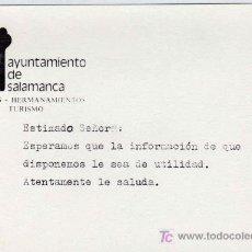 Carteles de Turismo: AYUNTAMIENTO DE SALAMANCA FESTEJOS HERMANAMIENTOS TURISMO. Lote 8404804
