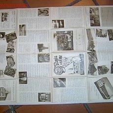 Carteles de Turismo: LUGO - CARTEL MAPA GUIA MONUMENTAL TURISMO DE 50 X 70 CM APROX 1950. Lote 111818287