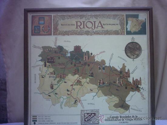CARTEL CUADRO LA RIOJA LOGROÑO (Coleccionismo - Carteles Gran Formato - Carteles Turismo)