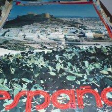 Affissi di Turismo: ALMERIA ESPAÑA DEL 1976, 100 CM X62 CM, ORIGINAL DE SU EPOCA.. Lote 12797205