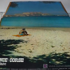 Carteles de Turismo: FRANCE, CORCE, LA MER CALVI, 99 CM X 62 CM, ORIGINAL DE SU EPOCA.. Lote 12798591