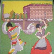 Carteles de Turismo: TRÍPTICO TURISMO. MURCIA. HOTEL VICTORIA. AÑOS 50.. Lote 13946300