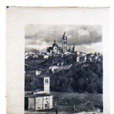 Carteles de Turismo: CARTEL. TURISMO DE SEGOVIA. VISTA GENERAL DE LA POBLACIÓN. MEDIDAS: 70 X 62 CM.. Lote 15244037