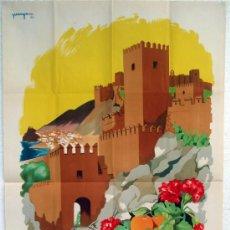 Carteles de Turismo: CARTEL ALMERIA , AÑOS 50 , TURISMO ,CIUDAD DE INVIERNO COSTA SOL , LITOGRAFICO , ILUSTRADOR PANYAN . Lote 23506445