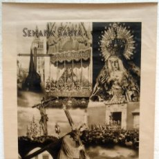 Carteles de Turismo: CARTEL TURISMO , SEVILLA SEMANA SANTA , AÑOS 30 ,IMPRENTA FOURNIER. Lote 24915077