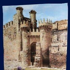 Carteles de Turismo: PONFERRADA - CARTEL - CASTILLO DE LOS TEMPLARIOS - 1984 - 80 X 57 CM. Lote 27289785