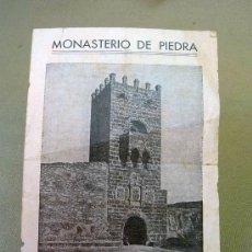 Carteles de Turismo: GUIA, GUIA PUBLICITARIA, GUIA DE VISITANTE, MONASTERIO DE PIEDRA. Lote 27641228