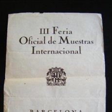 Carteles de Turismo: CARTEL III FERIA OFICIAL DE MUESTRAS INTERNACIONAL BARCELONA 15-25 MARZO 1922. 7 IDIOMAS.. Lote 152962354
