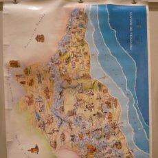 Carteles de Turismo: CARTEL DE UN MAPA DE LA PROVINCIA DE MÁLAGA. Lote 32433310