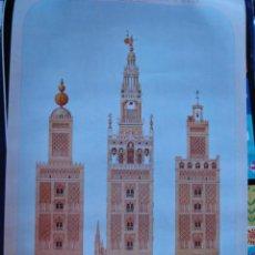 Carteles de Turismo: SEVILLA TRES FORMAS DE LA GIRALDA . Lote 32390929