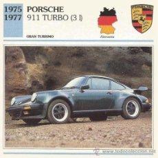 Carteles de Turismo: *** FT15 - FICHA TECNICA - PORSCHE 911 TURBO ( 3 L ) 1975 / 1977 - GRAN TURISMO - ALEMANIA. Lote 33692897