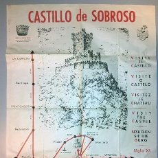 Carteles de Turismo: CARTEL TURISMO AÑOS 60 VILLASOBROSO - PONTEVEDRA - 500 X 700 MM - RARISIMO. Lote 40049103