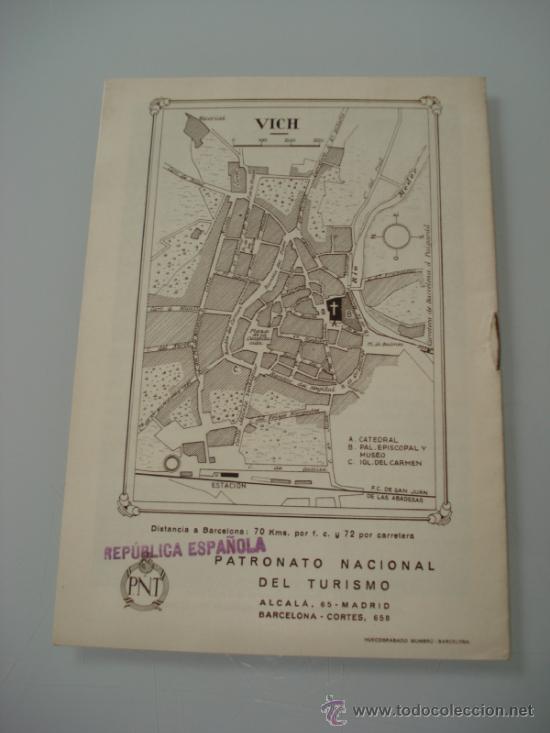 Carteles de Turismo: Antiguo Folleto de ** VICH ** del Patronato Nacional de Turismo del año 1920-30s - Foto 2 - 36534229