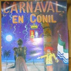 Carteles de Turismo: CARTEL DEL CARNAVAL DE CONIL. Lote 36756529