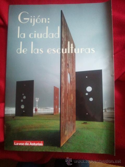 GIJON CIUDAD DE LAS ESCULTURAS (Coleccionismo - Carteles Gran Formato - Carteles Turismo)