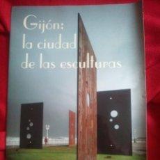 Carteles de Turismo: GIJON CIUDAD DE LAS ESCULTURAS. Lote 37649984