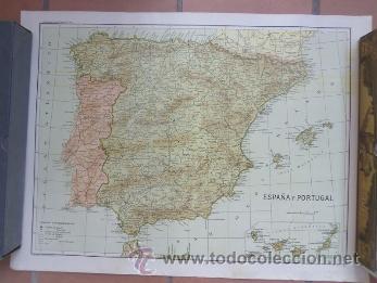 CARTEL MAPA DE ESPAÑA Y PORTUGAL - DE GRAVADOS A. COLOMER (Coleccionismo - Carteles Gran Formato - Carteles Turismo)