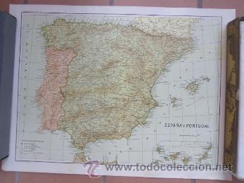 Carteles de Turismo: cartel mapa de españa y portugal - de gravados a. colomer - Foto 2 - 38720352