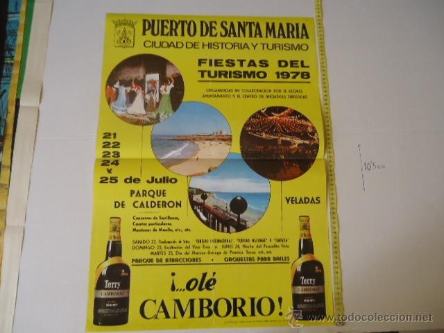FIESTAS DEL TURISMO 1978 PUERTO DE SANTA MARIA 1978 CARTEL ORIGINAL (Coleccionismo - Carteles Gran Formato - Carteles Turismo)