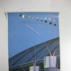 Carteles de Turismo: CARTEL-CARTELL BARCELONA. PLAÇA D´EUROPA. ESCULTURES A. MIYAWAKI. 1992.70 X 50 CM.. Lote 39969067
