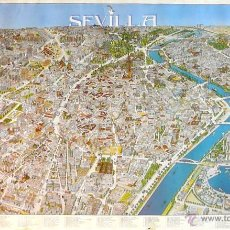 Carteles de Turismo: CARTEL MAPA SEVILLA. Lote 41562111
