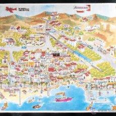 Carteles de Turismo: CARTEL DE SITGES. MAPA DE LA CIUDAD. Lote 41927020