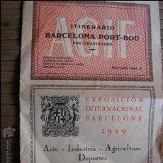 Carteles de Turismo: GUIA ITINERARIO FERROCARRIL AGIF BARCELONA PORTBOU 1929. Lote 39124919