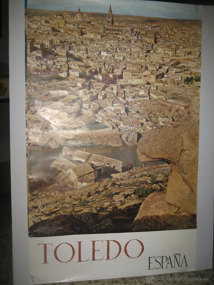 CARTEL DE TURISMO DE LA CIUDAD DE TOLEDO AÑOS 1960 (Coleccionismo - Carteles Gran Formato - Carteles Turismo)