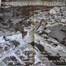 Carteles de Turismo: POSTER PUEBLO DE MALAGA ALHAURIN DE LA TORRRE,. Lote 45249749
