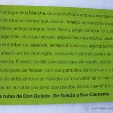 Carteles de Turismo: LAS DIEZ RUTAS DE DON QUIJOTE. EN DIEZ FASCÍCULOS EDITADOS EN 2005 POR CASTILLA LA MANCHA TURISMO.. Lote 46992751