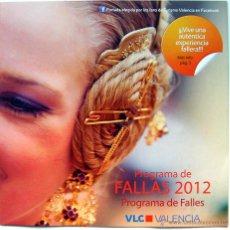 Carteles de Turismo: VALENCIA PROGRAMA DE FALLAS 2012. Lote 47424315