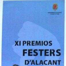 Carteles de Turismo: ALICANTE FOLLETO PREMIOS FESTERS D' ALACANT AÑO 2012. Lote 47482525