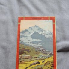 Carteles de Turismo: ANTIGUA PUBLICIDAD CALENDARIO DE TREN (1911) DE LOS ALPES SUIZOS - DESDE LA CIUDAD DE WENGERNALP. Lote 47929322