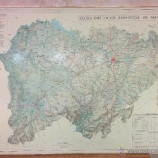 Carteles de Turismo: MAPA ENMARCADO DE LA PROVINCIA DE SALAMANCA, ED. DIPUTACION DE SA. AÑO 1981. Lote 47976147