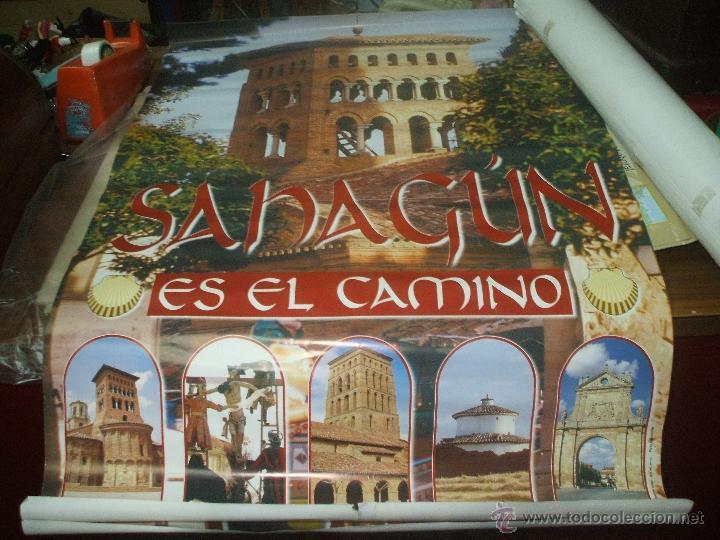 CARTEL GRAN TAMAÑO ,SAHAGUN EN EL CAMINO . (Coleccionismo - Carteles Gran Formato - Carteles Turismo)