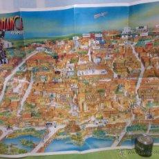 Carteles de Turismo: ANTIGUO PLANO DE SALAMANCA EN 3 DIMENSIONES ORIGINAL DEL AÑO 1989 - EDITADO POR CITIPOST. Lote 48360454